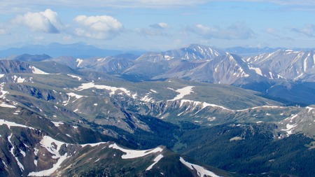 front range: Mountain views, Front Range Colorado Stock Photo