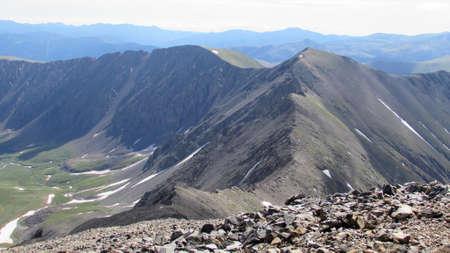 front range: Mountain Peaks in Colorado Front Range Stock Photo