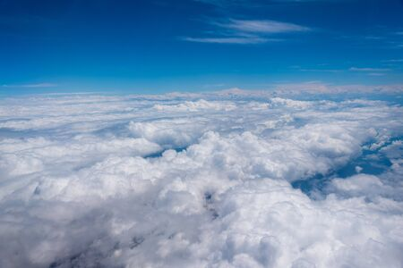 aerial view of clouds with bluish sky Stock Photo