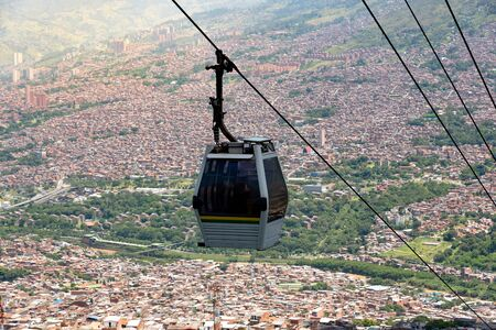 Cableway from the city of Medellin, Colombia.