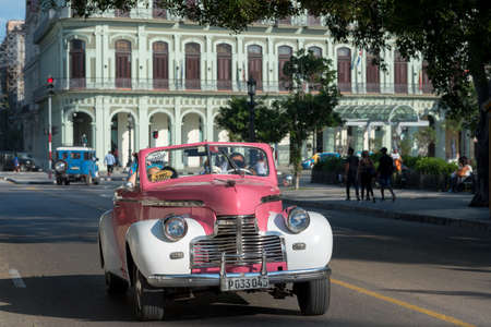 Convertible classic car used in old Havana for tours, these cars are very used by tourists and are a tradition of the city. Havana Cuba. February 2, 2019 写真素材 - 150565287