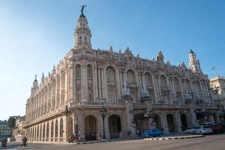 Great theater of Havana, cultural and social center. And one of the most representative buildings of archeological history in the city. Havana Cuba January 2, 2019 写真素材 - 150565291