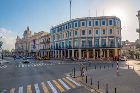 Avenida del Prado is one of the most important avenues in Old Havana where you can see the most representative buildings and visited by tourists in the city. Havana Cuba. January 2, 2019. 写真素材 - 150565299