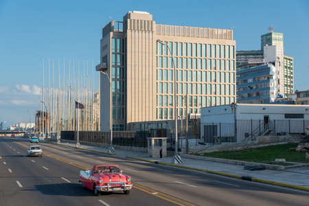American Embassy in Cuba formerly called office of interests of the United States of America in Havana.Habana .Cuba. 2 January. 2019 写真素材 - 150569568