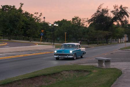 Classic taxi used in the Miramar residence area. The Havana. Cuba. December 28, 2018 写真素材 - 150569580