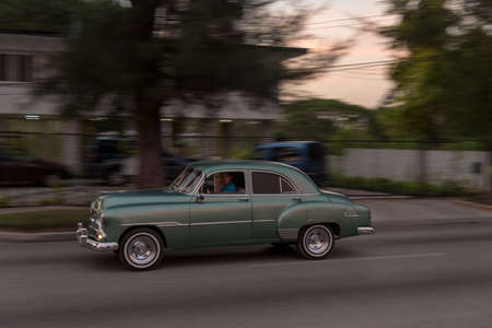 Classic taxi used in the Miramar residence area. The Havana. Cuba. December 28, 2018 写真素材 - 150569581