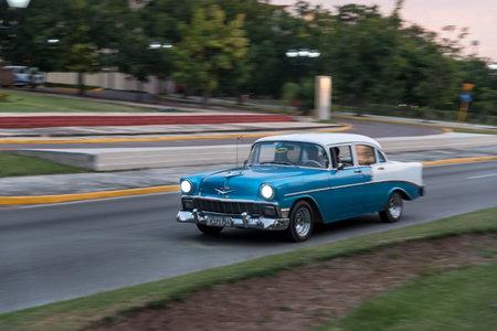 Classic taxi used in the Miramar residence area. The Havana. Cuba. December 28, 2018 写真素材 - 150569582