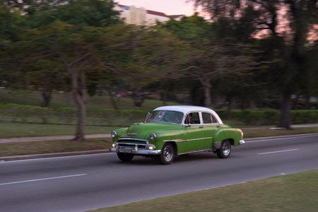 Classic taxi used in the Miramar residence area. The Havana. Cuba. December 28, 2018 写真素材 - 150569591