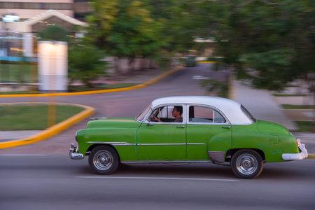 Classic taxi used in the Miramar residence area. The Havana. Cuba. December 28, 2018 写真素材 - 150569593