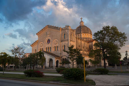 Church of Jesus de Miramar in Romanesque-Byzantine style is the second largest church on the island. Havana. Cuba 写真素材