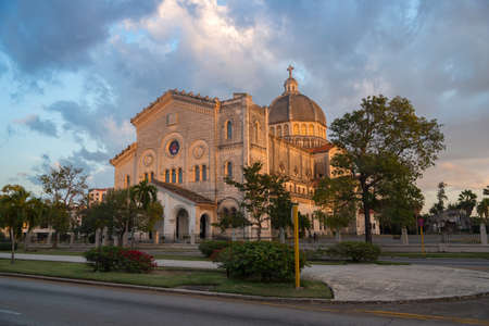 Church of Jesus de Miramar in Romanesque-Byzantine style is the second largest church on the island. Havana. Cuba December 27, 2019 写真素材