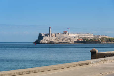 Castillo del Morro, fortress built by the Spanish empire at the entrance to the port of Havana. Cuba