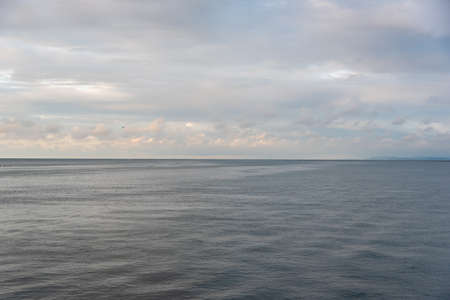 View of tranquility with the horizon of the sea. Colombia 写真素材