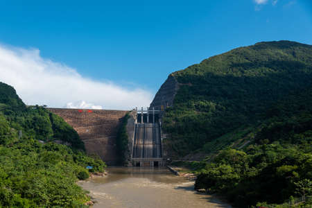 Bucaramanga dam with a capacity of 17.3 million cubic meters. Santander. Colombia.