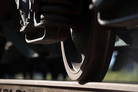 Railway wheel Imagens