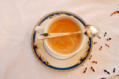 cup of coffee with spoon Stok Fotoğraf
