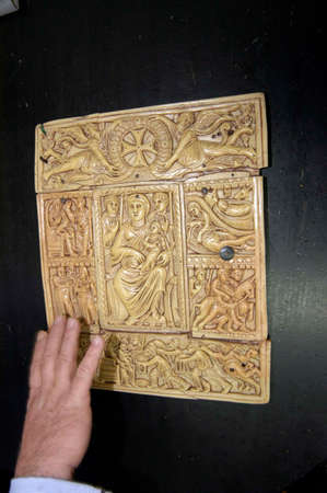 Showing historic letterpress printed book