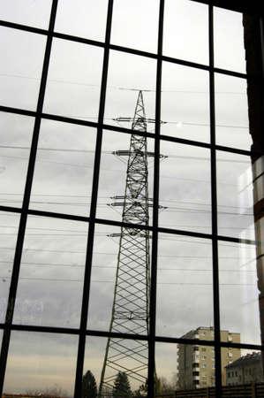 380 kv power line + pylon Stock fotó
