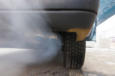 Air pollution and particulates caused by car exhaust gases