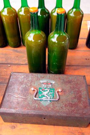 Juice storage in glass bottles