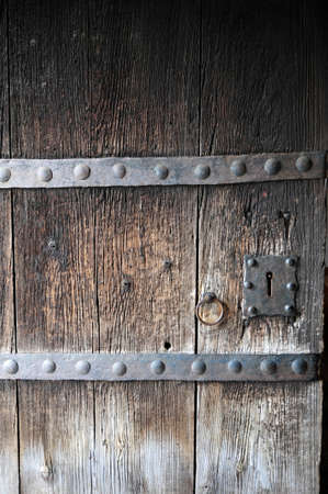 Vintage wooden door, old building Stockfoto