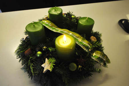Advent wreath on the 1st of Advent