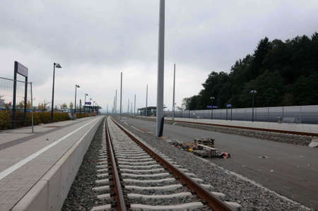 Track construction for public transport