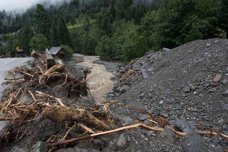 damage and destruction by floods
