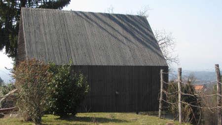 house facade in wooden construction