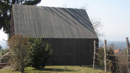 house facade in wooden construction