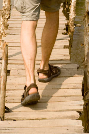 people wearing sandals in summer Stock Photo