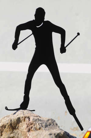 cross-country skiing symbol figure Stock fotó