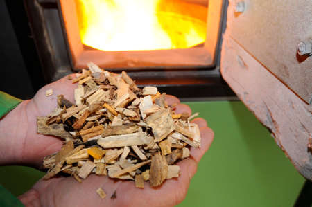 heating with woodchips at home