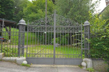 wrought iron gate or door