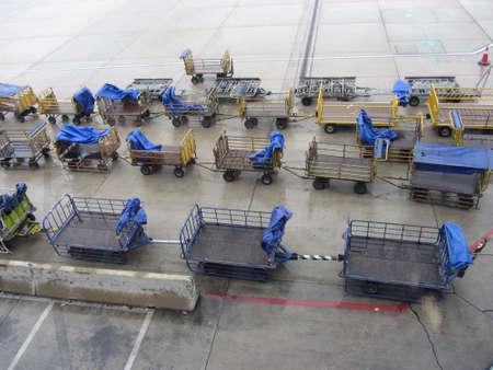 flight baggage at the airport