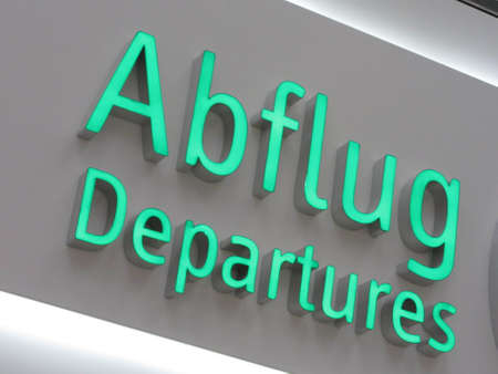 departure sign at the ariport