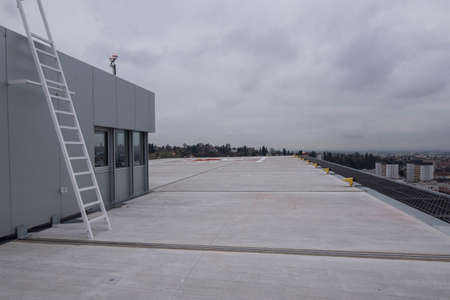 Heliport on the roof of a building