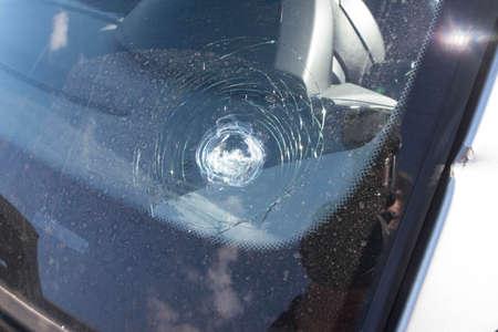 break of a car windshield