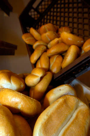 buns and bread rolls from the bakery