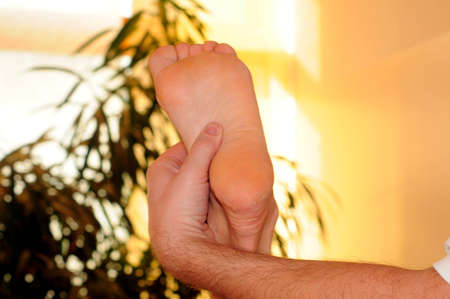 massage of the soles of the feet