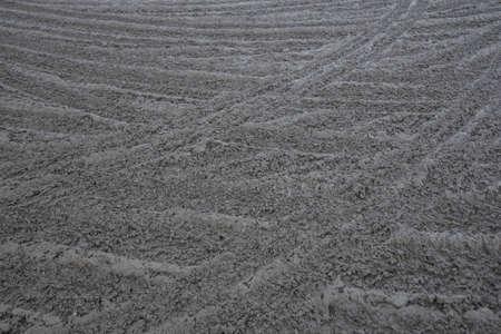 Tire tracks of a car in the mud Reklamní fotografie