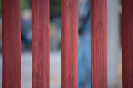 wooden fence in the garden, for separating private and public space Reklamní fotografie