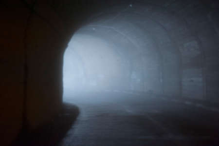 tunnel vision as a symbol for human fear and anxiety