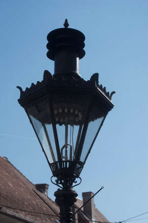 vintage looking street light in public space, during day time Foto de archivo
