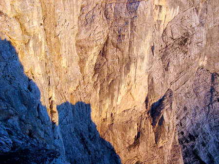 rock formation in a rocky mountain landscape in the alps Banco de Imagens