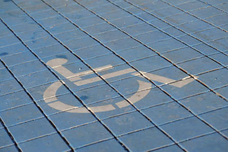 wheelchair symbol, mobility and accessibility for handicapped people in the public Banco de Imagens