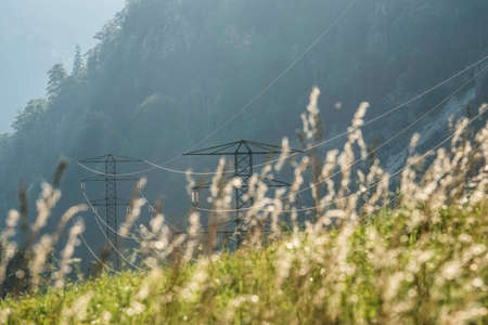 energy supply with a 380 kv power line and power pole