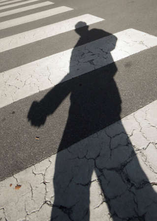 crosswalk, a road marking for pedestrian safety on the street