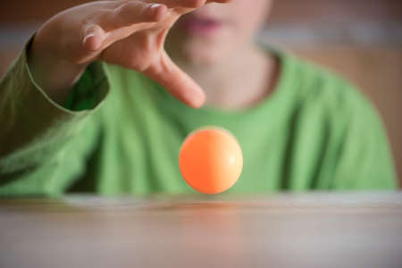 children playing a ball game, training and exercise at a young age Standard-Bild