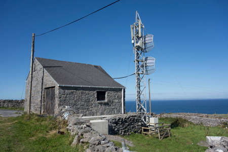 cell tower and antennas in a mobile or cellular network in ireland